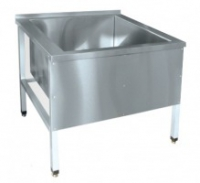 Ванна 1-о секц. ВМП-9-1 котломойка (мойка 800x800x500мм.) каркас крашен.