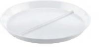 Тарелка плоская 23 см с двумя отсеками