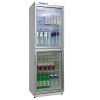 Холодильный шкаф, разделенная стеклянная дверь DM-135/2-Eco