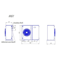 Компрессорно-конденсаторный блок Intercold ККБ1.1-ZBD45