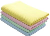 Гладкокрашенные вафельные полотенца