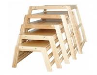 Комплект составных скамеек-трапеций