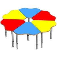 Стол Ромашка (нога металлическая регулируемая)
